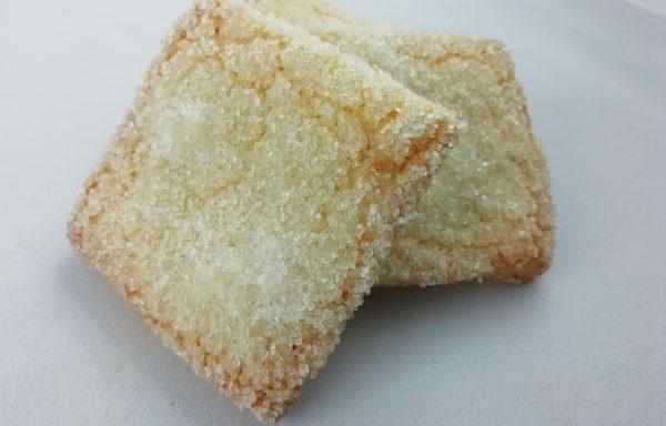 Ciastka kwadraty z cukrem